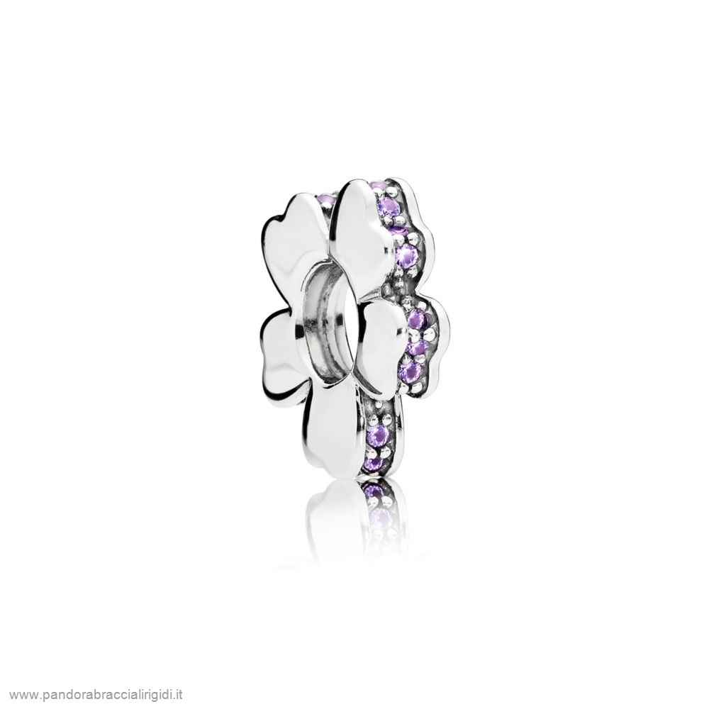 Pandora Gioielli Offerte Purple Wildflower Prato Spacer Fascino